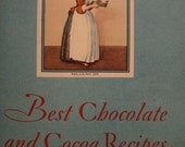 Calling all Chocoholics - Awesome Chocolate and Cocoa Recipe Book from 1931 - with FREE SHIPPING