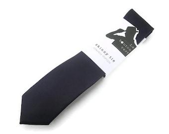 Midnight blue skinny tie