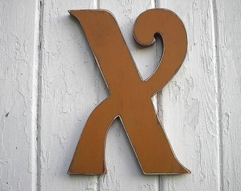 Shabby chic 12 inch X sign Alphabet Sign Wooden Wall Kids Room Nursery Decor Cabin Country Cottage Decor