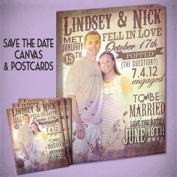 Save the Date Wall Art and Matching Postcards