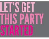 Bachelorette Party Printable Invitation (Customizable PDF)