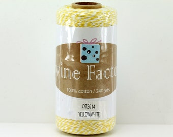 Yellow Bakers Twine 240 Yards Full Spool 4 Ply