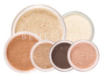 8pc SUMMER GLOW Mineral Makeup Kit - Full Sizes - Customize Colors