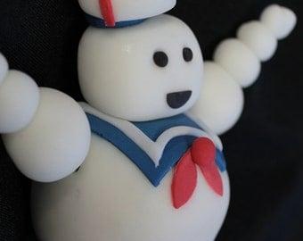 Edible Fondant Cake toppers  1 MARSHMALLOW man, Ghostbusters Cake Topper, Ghostbuster Stay Puft Marshmallow Man