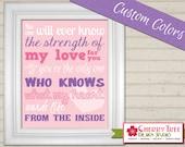 8x10 Nursery Print - Strength of My Love