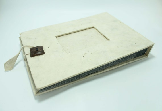 Handmade photo album Lokta paper