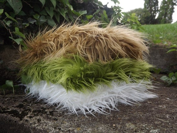Set of 3 furs - olive green, camel, and white faux Mongolian fur photography prop 20 x 18