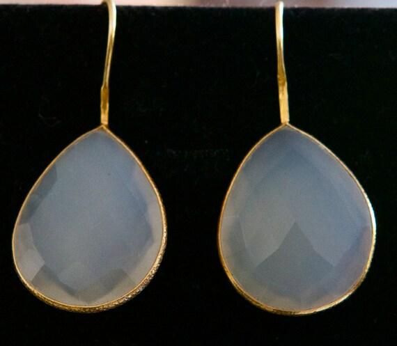 Milky quartz earrings