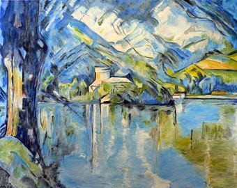 Replica of Cezanne's Lac d'Annecy (Lake Annecy) - 100% hand painted oil on canvas