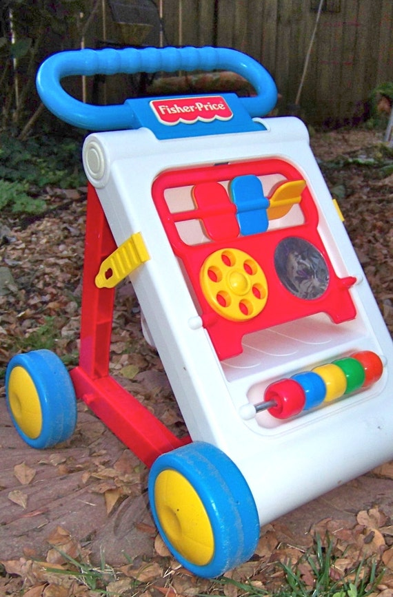 Fisher Price Toddler Push Toy Vintage Activity Center