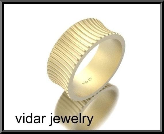 Wedding Band,Wedding Ring,Gold Wedding Band,Unique Wedding Band,For her,14k gold,designed,wide Wedding Band.