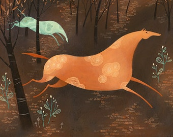 Beyond The Pale. Open edition Giclee print by Tracie Grimwood.