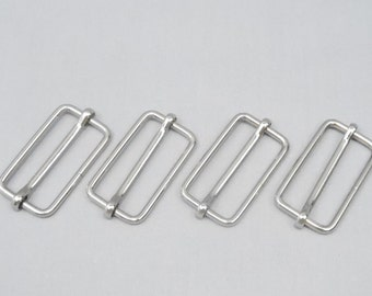 10 Silver 1.5 Inch (38mm) Strap Adjusters / Buckles / Sliders