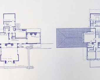 Frank Lloyd Wright A.W. Gridley House Blueprint