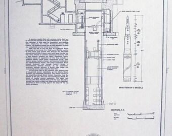 Whiteman Air Force Base Minute Man Launch Facilty Blueprint