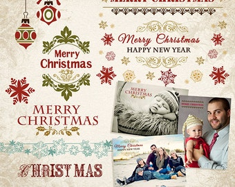 Christmas Photo Overlays PSD & PNG - ID023