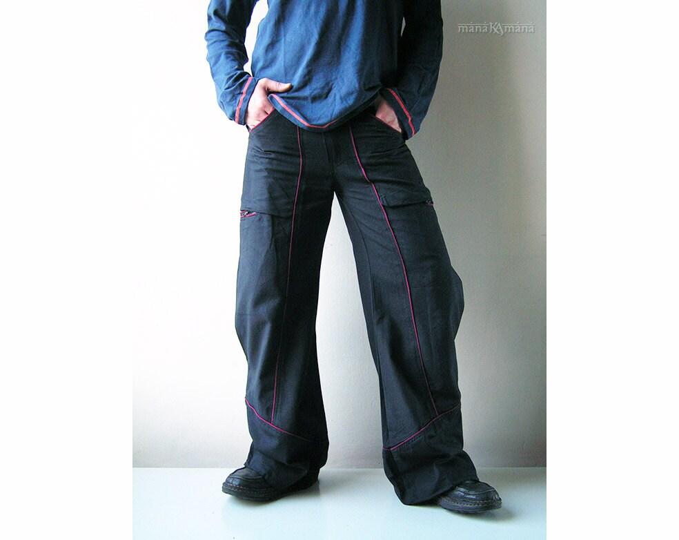 Traveller Bell Bottom pants Multi pockets Groovy