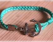 Anchor Bracelet - Aquamarine.