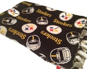 Pittsburgh Steelers Blanket - NFL Fleece Tie Quilt- Small, Medium and Large Sizes - Pittsburg Football Pattern / Fabric