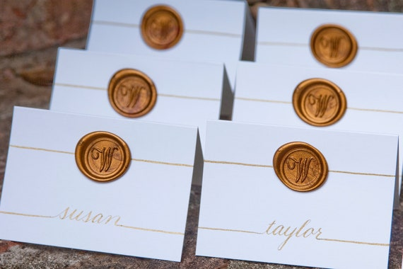 Name Place Cards / Escort Cards and Table Numbers Hand Calligraphy ...