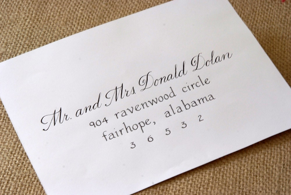 addressing wedding invitations without inner envelope is luxury invitations sample