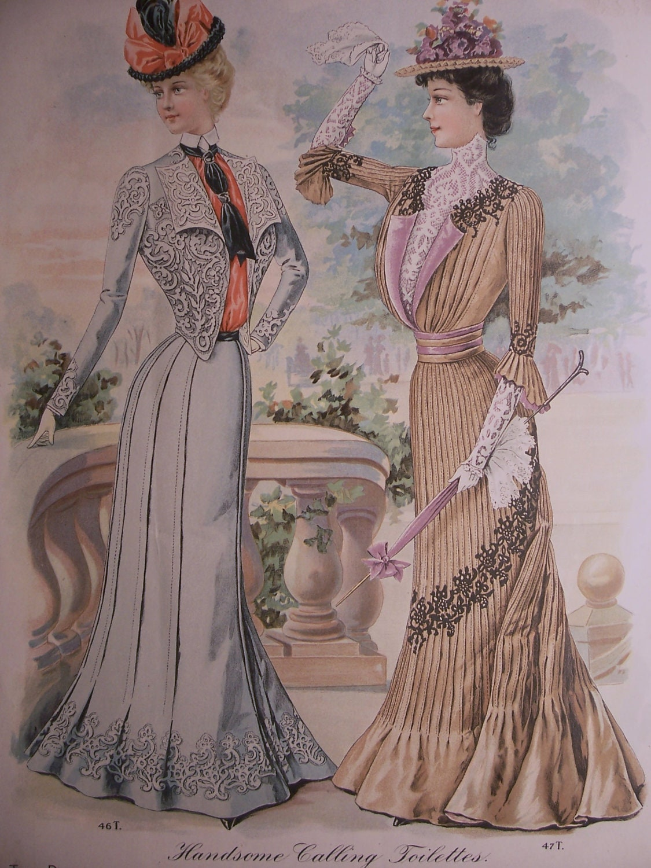 VICTORIAN FASHIONS /1900s Butterick Pattern Advertisement