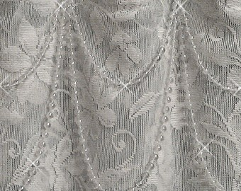 Double Swag...Shower Curtain Bling... Crystal and Black or