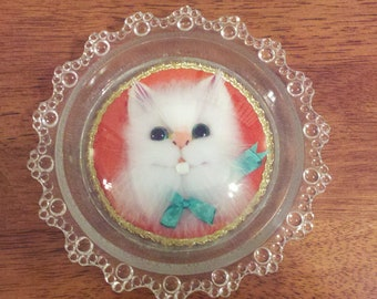 Cute Decorative Kitty Plate