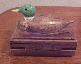 Ceramic Box with Mallard Top