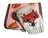 Red Fox Fingerless Gloves PDF Knitting Pattern / Knit Fingerless Gloves