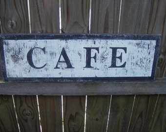 Shabby Chic Distressed Cafe Sign
