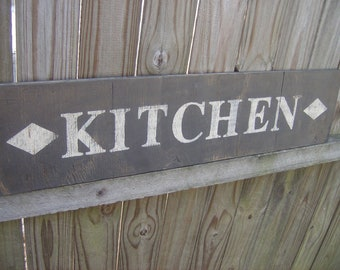 Distressed Kitchen wall sign