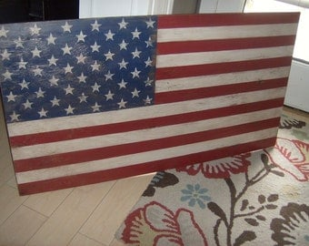 Nice Distressed American Flag Wall Decor Light Distressed/patriotic/red White  Blue/32 Part 10
