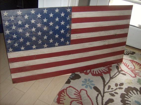 Distressed American Flag wall decor light