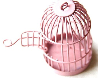 6 pcs Of metal bird cage pendant 28x28x35mm-MP1009-11