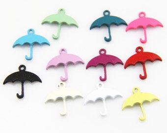 20 pcs of 10 colors of  umbrella charm 1467-20x19mm-mix color