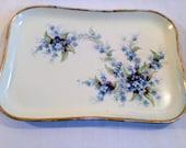 O & E.G. Royal Austria Floral Vanity Tray