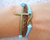 Infinity bracelet God blessing bracelet karma infinity cross gift for friends