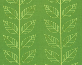 """Moda """"Simply Color"""" 10805 18  Lime Green with white outline of leaf"""