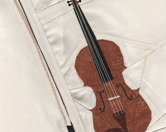 Fiddle The Violin - Paper Piecing