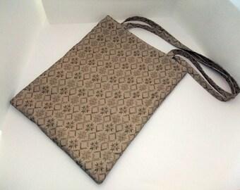Shoulder Bag Fair-Isle Brown
