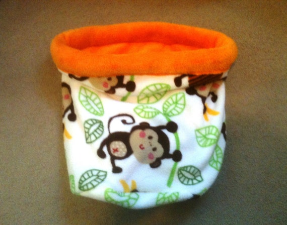 Go Bananas HugNSnug Sac with orange cuddle fleece interior