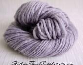 SALE Thick HandSpun Yarn, Bulky Yarn, Lavernder Dream, HandDyed Yarn, Bulky Handspun Yarn Crochet supplies, Knitting supplies