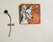 Coyote Triangle - Southwestern.    Drawing.  Geometric.  Wall Art