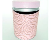 "SALE: Swirl kitchen canister, Nespresso capsule holder, storage tin ""Ukishima"""