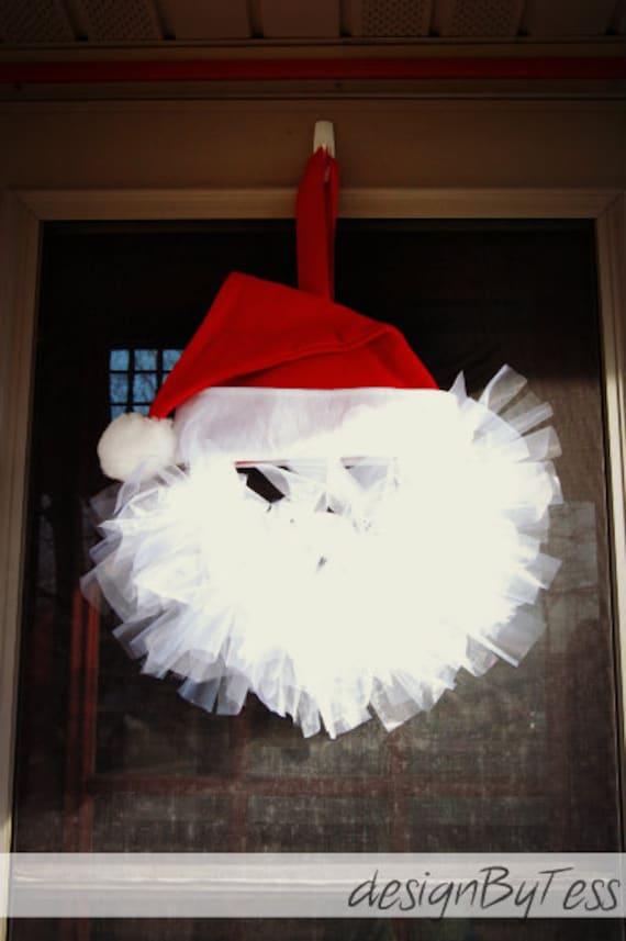 Santa Wreath With Hat