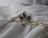 Private listing for Megan Allen - Ship wheel earrings & Bow earrings