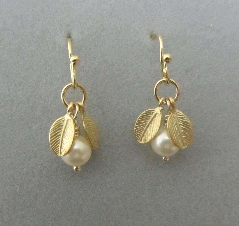 simple dangling pearl earrings gold earrings gold by