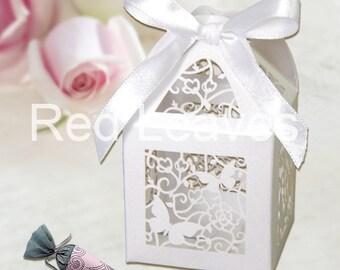 120pcs  flower butterfly favor boxes