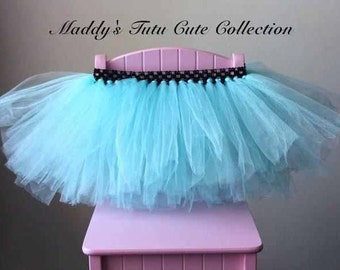 Aqua Fluffy Tutu Size 0- 5T